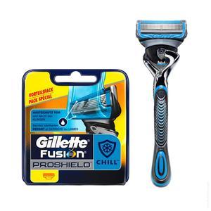 Gillette Fusion Proshield Chill Mens Razors Blades 4pc