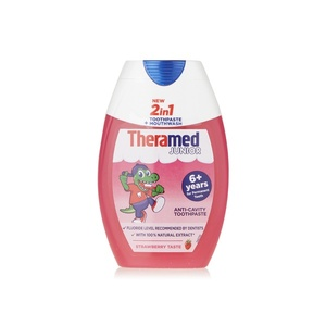 Theramed 2in1 Junior Strawberry Toothpaste & Mouthwash 75ml