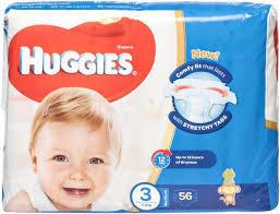 Huggies Ultra Comfort Baby Diapers Size 3 4-9 kg 56pcs