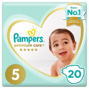 Pampers Premium Care Diapers Size 5 Junior 11-16 Kg Mid Pack 20 pcs