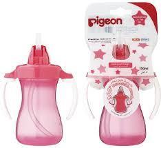 Pigeon Petite Straw Botle Pink 1pcs