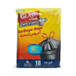Glad Garbage Bags Xxlarge Open Mouth 12x18ct