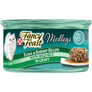Purina Fancy Feast Medleys Tuna & Shrimp Recipe Wet Cat Food 85g