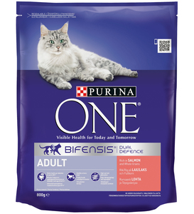 Purina One Adult Cat Salmon & Whole Grains 800g