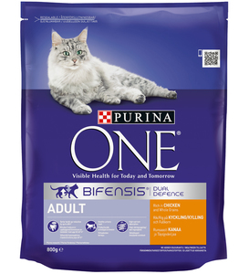 Purina One Adult Cat Chicken & Whole Grains 800g