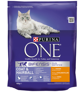 Purina One Coat & Hairball Cat Chicken & Whole Grains 800g