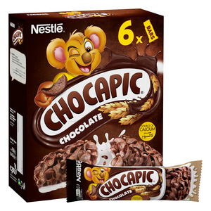 Nestle Chocapic Chocolate Breakfast Cereal Bar 6x25g
