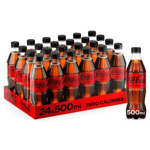 Coca-Cola Zero Pet Bottle 24x500ml