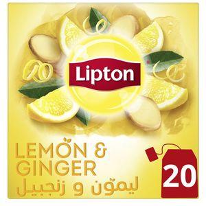 Lipton Herbal Infusion Tea Lemon & Ginger 20s