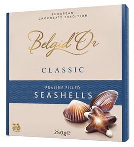 Belgidor Chocolatealte Praline Filled Sea Shells 250gm