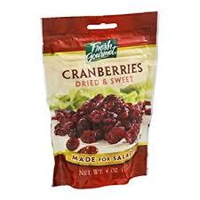 Fresh Gourmet Cranberries Dried & Sweet For Salads 99gm
