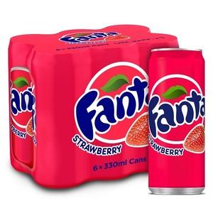 Fanta Strawberry Can 6x330ml