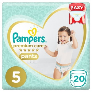 Pampers Premium Care Pants Diapers Size 5 Junior 12-18Kg Carry Pack 20 pcs