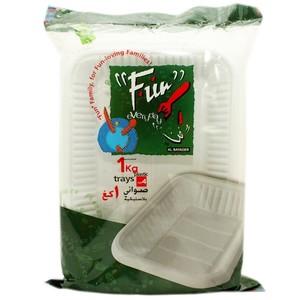 Fun R/Angel Plastic Tray No 4 White 1kg