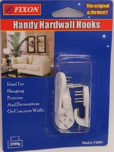 Handy Hardwall Hooks 1pc
