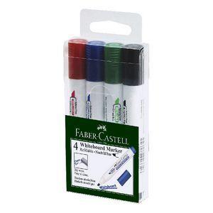 Full Cream Wht Board Marker 4s