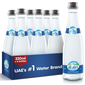 Al Ain Water Glass Bottle 6x330ml