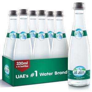 Al Ain Glass Bottle Sparkling Water 6x330ml