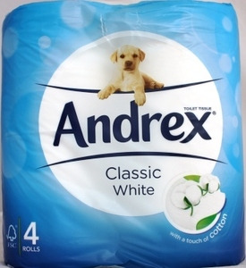 Andrex Toilet Roll Classic White 2ply 4s