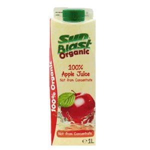 Sun Blast 100% Organic Apple Juice 1L