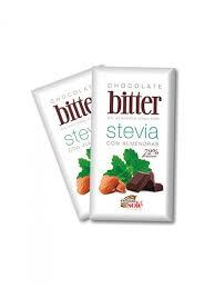 Stevia Dark Chocolate with Almonds 1pkt