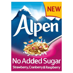 Alpen Muesli Strawberry Cranberry &Raspberry No Added Sugar 560gm