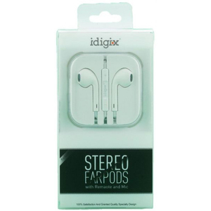 Idigix Earpods Stereo With Mic 1pc
