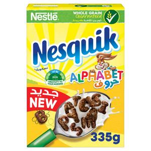Nestle Nesquik Chocolate Alphabets Breakfast Cereal 335g