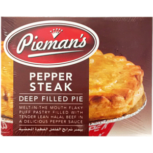 Piemans Pepper Steak Pie 185gm