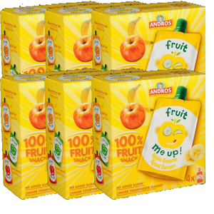 Andros Fruit Me Up Apple Banana 4x90g