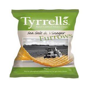 Tyrrell's Furrows Sea Salt And Vinegar 40g