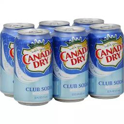 Canada Dry Club Soda 6x355ml