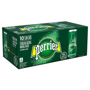 Perrier Sparkling Water Slim Can 10x250ml