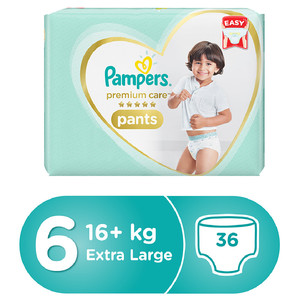 Pampers Premium Care Pants Diapers Size 6 Extra Large 16+ Kg 36pc