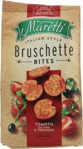 Maretti Bread Bites Tomato Olives And Oregano 85g