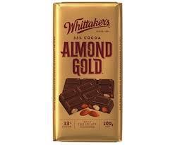 Whittaker's Chocolate Bar Almond Gold 200g