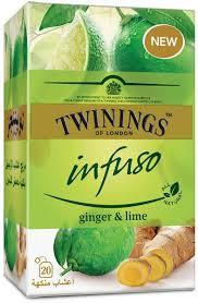 Twinings Infuso Ginger & Lime Bag  20s