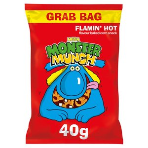 Walkers Chips Monster Munch Mega Flamin Hot 40g