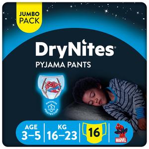 Huggies Drynites Boys Pyjama Pants Age 3-5 Years 16-23 kg 16pcs