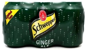 Schweppes Ginger Ale Can 6x300ml