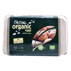 Orvital Organic Medium Brown Free Range Eggs 15pcs