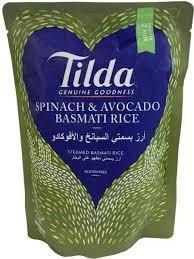 Tilda Rice Basmati Spinach & Avacado 250g