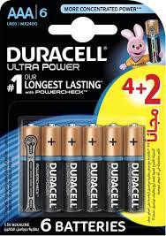 Duracell Battery Ultra Power Aaa 4+2 Offer 1pkt