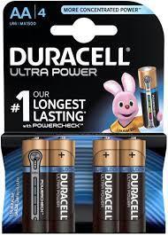 Duracell Battery Ultra Power Aa4 1pkt