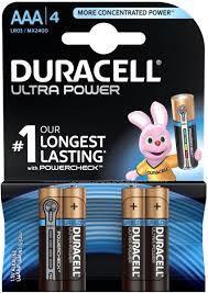 Duracell Battery Ultra Power Aaa4 1pkt