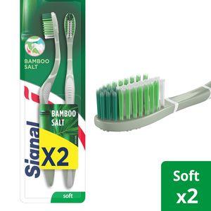 Signal Toothbrush Bamboo Salt x Extra Soft 2pcs