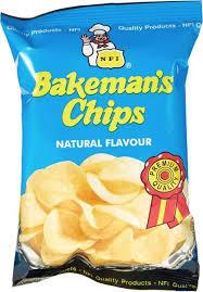 Bakeman's Potato Chips Natural Flavour 25g