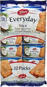 Tiffany Nice Biscuits 12x50g