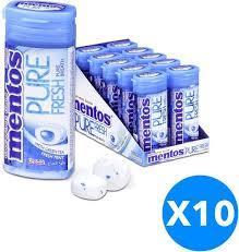Mentos Pure Fresh Chewing Gum Fresh Mint Sugar Free 10x24g