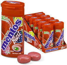 Mentos Pure Fresh Chewing Gum Red Fruit Lime 10x24g
